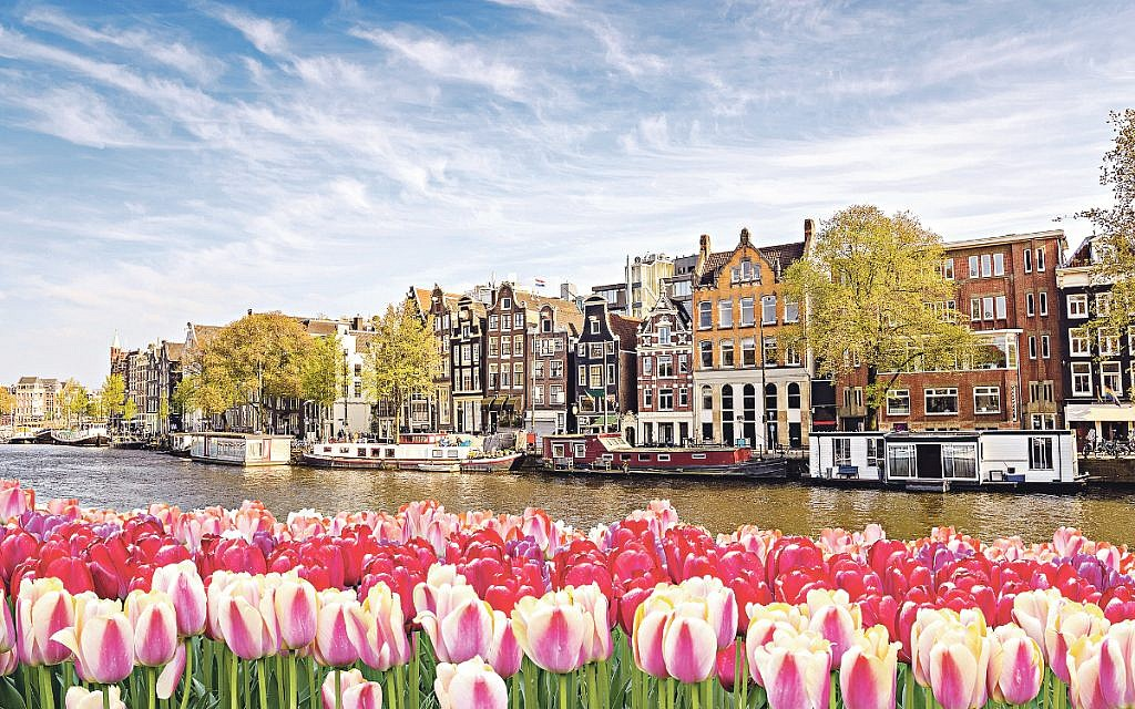 Amsterdam and its famous canals that are a UNESCO World Heritage Site.