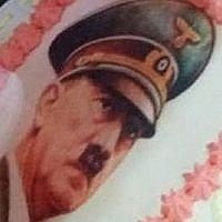 Hitler on a birthday cake (Simon Wiesenthal Centre)