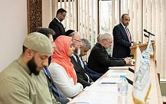 Interfaith panel at London Central Mosque in the aftermath of the Christchurch attack. Among speakers were the Chief Rabbi, Sadiq Khan, Sajid Javid and the Archbishop of Canterbury, as well as members of the Muslim community.