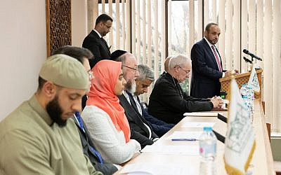 Interfaith panel at London Central Mosque in the aftermath of the Christchurch attack - shortly before Tory  Home Secretary Sajid Javid, increased funding for mosque security.