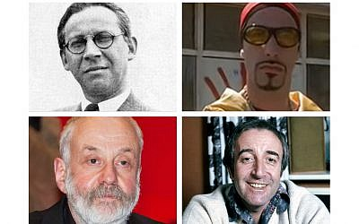 Alexander Korda, Ali G, Mike Leigh and Peter Sellers   (Wikimedia Commons and Youtube screenshot - via Jewish News)
