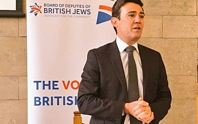 Andy Burnham speaking at the Board's event