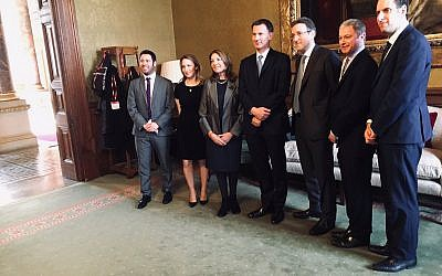 Board of Deputies and Jewish Leadership Council officials meet with Foreign Secretary Jeremy Hunt