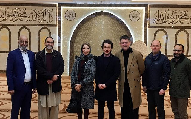 Officials from the Board of Deputies visit a mosque to pay respects after Christchurch terror attack
