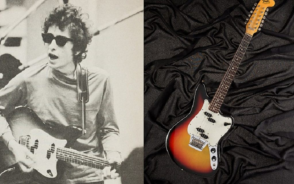 Bob Dylan's 1965 Fender electric guitar, which he played while recording his critically-acclaimed Blonde on Blonde album, is set to go under the hammer this weekend