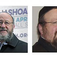 Chief Rabbi Mirvis and Dayan Yonason Abraham