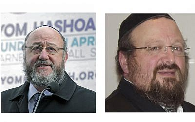 Chief Rabbi Mirvis and Dayan Yonason Abraham