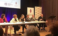 Panelists including Lord Pickles (speaking on the right), Olivia Marks-Woldman of HMDT, historian Trudy Gold and Henry Grunwald of the National Holocaust Centre  (Credit:  Holocaust Memorial Day Trust)
