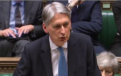 Chancellor Philip Hammond delivering his Spring Statement