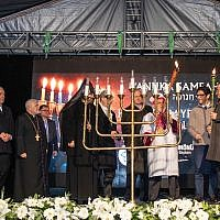 Chanukah event in Istanbul (Photo Credit: Izzet Keribar)