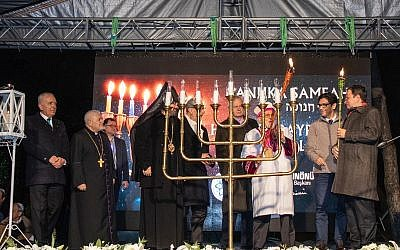 Chanukah event in Istanbul (Photo Credit: Izzet Keribar)