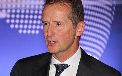 Volkswagen boss Herbert Diess (Wikimedia/RudolfSimon via Jewish News)