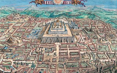 Map of Jerusalem (1669 - 1699) by Romeyn de Hooghe (The National Library of Israel)