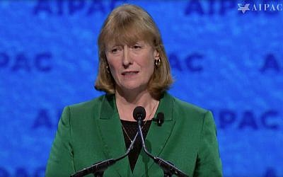 Joan Ryan speaking at AIPAC 2019