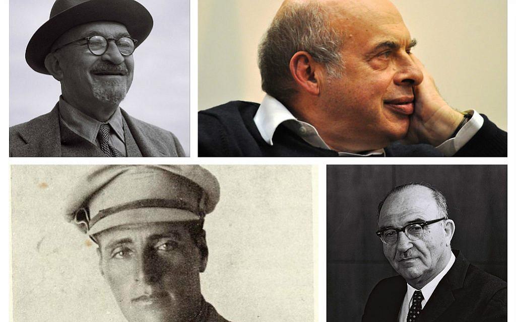 Top: Chaim Weizmann and Natan Sharansky. Bottom: Joseph Trumpeldor and Levi Eshkol