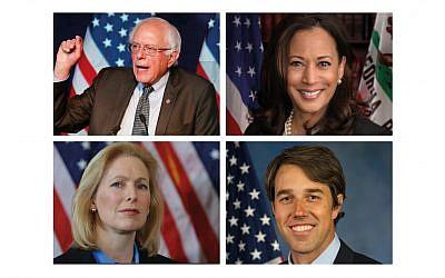 Bernie Sanders, Kamala Harris, Kirsten Gilibran and Beto ORourke