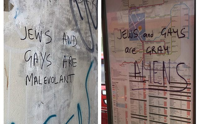 Posters calling 'Jews and gays' aliens and malevolent