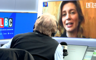 Rachel Riley appearing on LBC