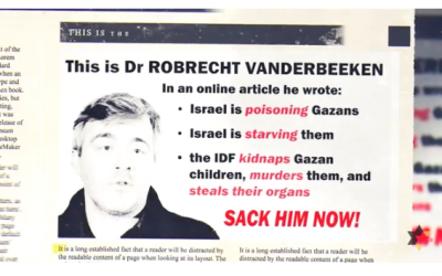 Screenshot from video by BFOI of Dr Robrecht Vanderbeeken, accused of hate speech