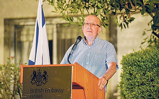 Michael Wegier at a Jewish News reception in Israel last year