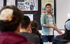 Jonny Benjamin speaking in JFS
