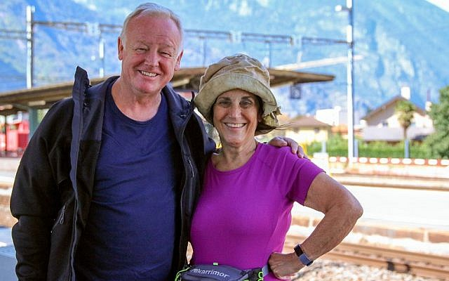 Lesley Joseph with Les Dennis, who also took part in Pilgrimage: The Road To Rome. Credit: Simona Sborchia