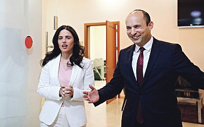Naftali Bennett (R) and Ayelet Shaked  (REUTERS/Corinna Kern)