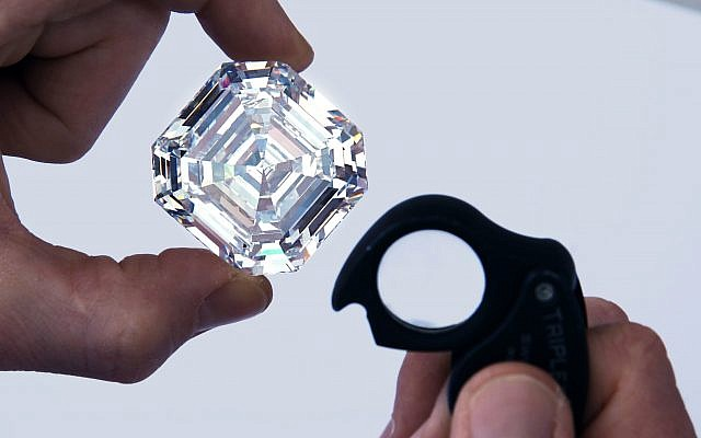 The Graff Lesedi La Rona - the largest highest colour, highest clarity diamond ever graded by the GIA.   Photo credit: Donald Woodrow/Graff/PA Wire