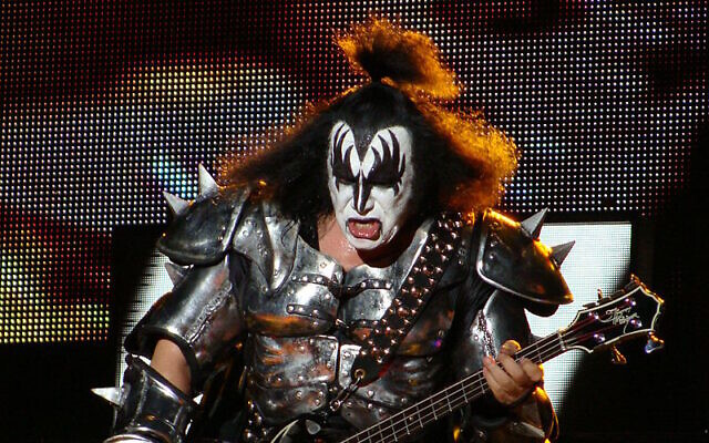 Kiss singer and bassist Gene Simmons on stage.