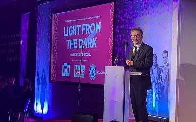 David Baddiel kicks of Light From The Dark at Stamford Bridge in aid of the Imperial War Museum, partnered by Jewish News and Chelsea FC