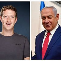 Mark Zuckerberg and Bibi Netanyahu