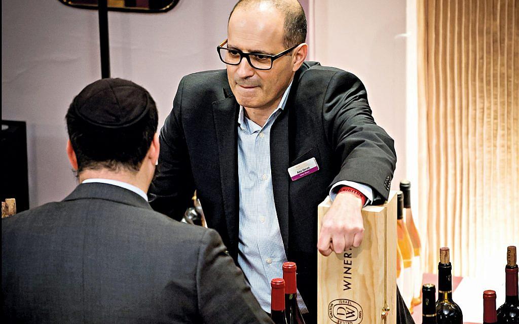 Alex Haruni in wine work mode