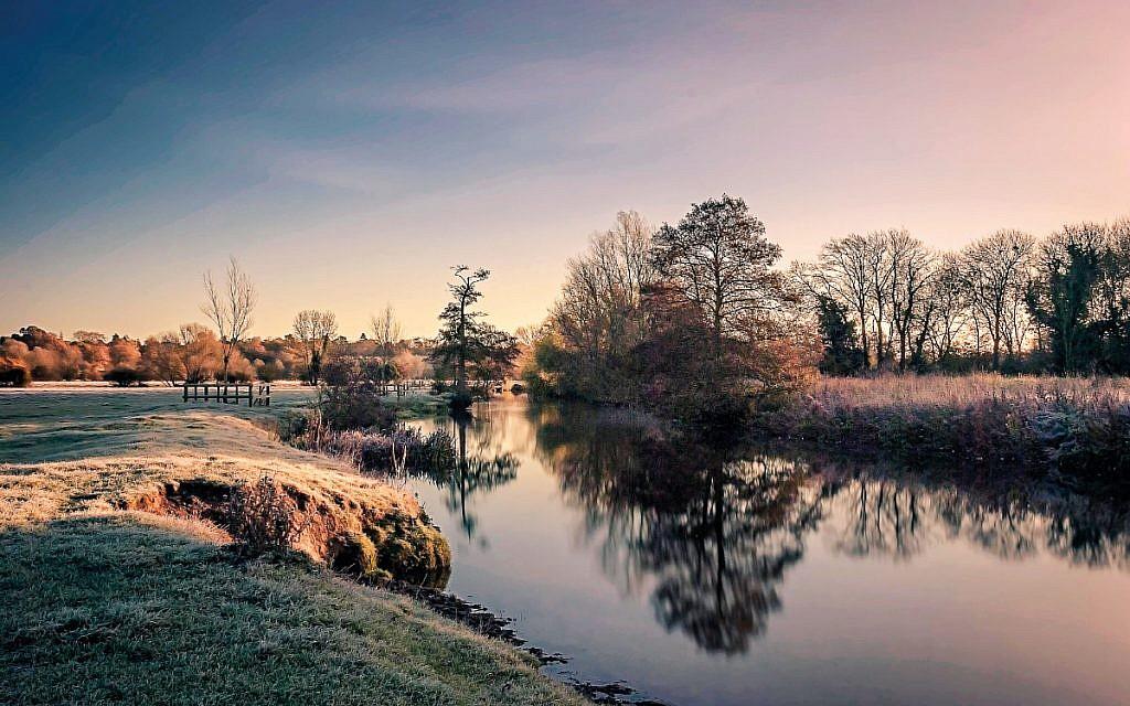A winters morning in Dedham Vale, Essex, UK