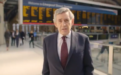 Gordon Brown features in Hope Not Hate's video filmed at Liverpool Street Station.
