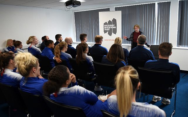 Chelsea Women side heard testimony from the 88-year-old Holocaust Survivor Susan Pollack this week.