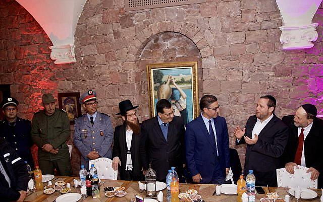 Rabbi Dov Cowan with royal dignitaries