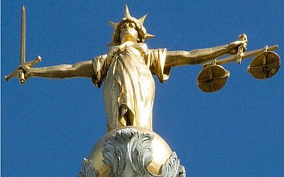 The Old Bailey's Lady Justice. (Wikipedia/Charles D P Miller - via Jewish News)