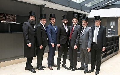 New rabbis Alexander Goldberg, Aaron Hass, Aron Lovat, Yechezkel  Mandelbaum, Jeremy Meyer, Sam Millunchick and Claude Vecht-Wolf