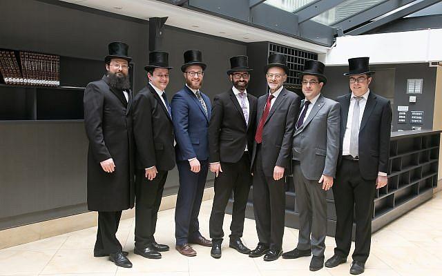 New rabbis Alexander Goldberg, Aaron Hass, AronLovat, Yechezkel Mandelbaum, Jeremy Meyer,Sam Millunchick and Claude Vecht-Wolf