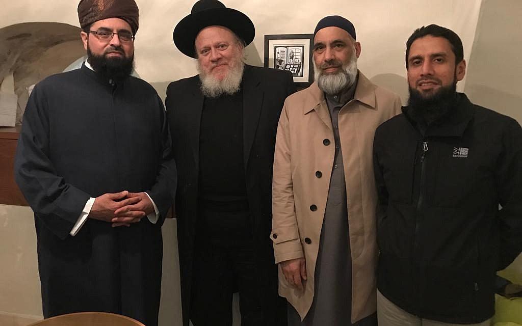 The Journey2Jerusalem delegation with a rabbi in Jerusalem