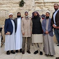 British Muslim leaders on the Journey2Jerusalem delegation at the Western Wall
