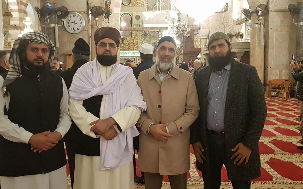 The Journey2Jerusalem delegation  at Al Aqsa mosque