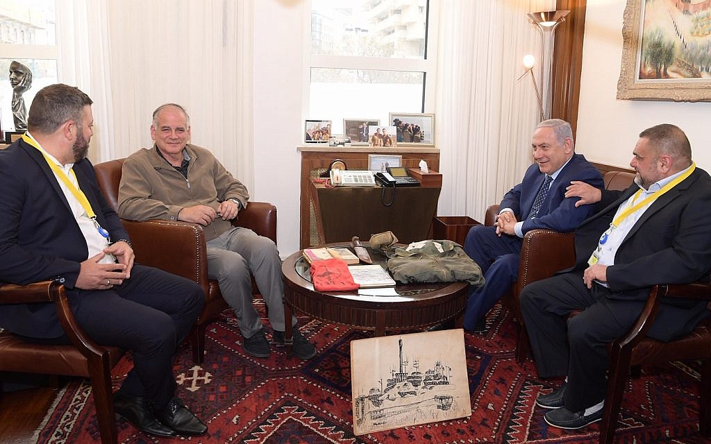 PM Benjamin Netanyahu with Dr Id Netanyahu  (photo credit: Amos Ben-Gershom (GPO))