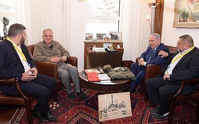 PM Benjamin Netanyahu with Dr Id Netanyahu  (photo credit: Amos Ben-Gershom (GPO))