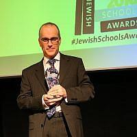 JCoSS head Patrick Moriarty at the previous  Jewish Schools Awards