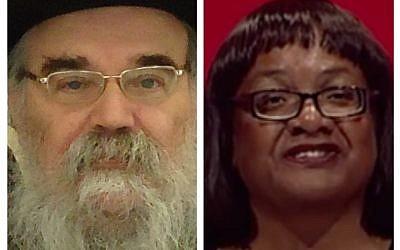 Rabbi Pinter and Diane Abbott