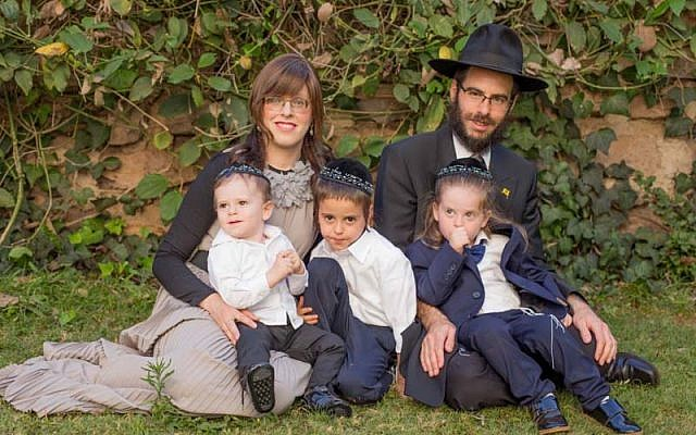 Rabbi Shmuel Notik, his wife Chaya and family (Facebook via Times of Israel)