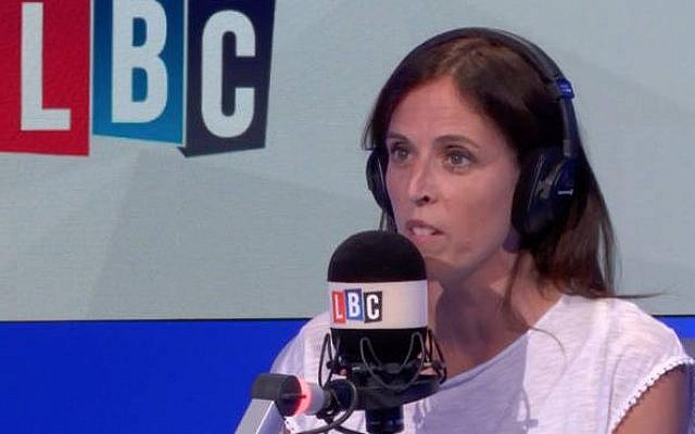 Cllr Sara Conway speaking to LBC earlier last year