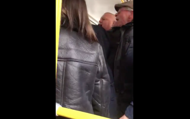 Screenshot of video shows some of the fans accused of using antisemitic chants