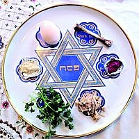 Seder table!